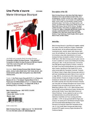 CD A Door opens / Une porte s'ouvre, Informative sheet (English)