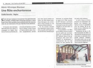 Press Review - L'Eau-Vive, Regina - Une flûte enchanteresse