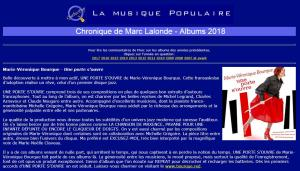 Press Review - Quebec Pop - Chronique de Marc Lalonde