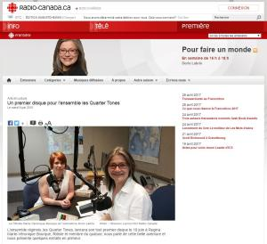 Press Review - Radio-Canada - Flutes and Fauna